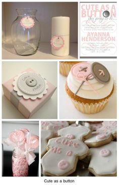 "KG Style Designs|Affordable Interior Design: Event: ""Cute as a Button"" Baby Shower Theme"