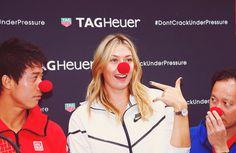 Maria Sharapova, Kei Nishikori and Michael Chang | Association Theodora Fund Event, Tag Heuer Boutique, Paris, France