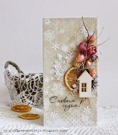 Tinker karácsonyi kártyák természetes anyagokkal - nagy mesterségek a természet kincsesládájából Create Christmas Cards, Christmas Card Crafts, Christmas Tag, Xmas Cards, Handmade Christmas, Holiday Crafts, Theme Noel, Winter Cards, Card Tags