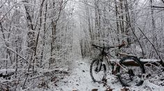 Mountain Biking in the Snow