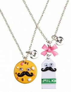 funny Best Friend Necklaces, Best Friend Jewelry, Bff Necklaces, Friendship Necklaces, Cute Necklace, Pretty Necklaces, Justice Accessories, Justice Clothing, Shop Justice