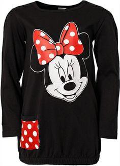 Minnie Mouse - Minni Hiiri, Tunika pilkullisella taskulla, Musta/Punainen, koko 110 cm. 14,90 €.