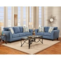 The Elizabeth Royal blue living room set. Fit for a queen! #home ...