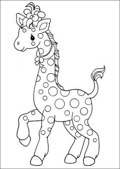 precious moments giraffe coloring page