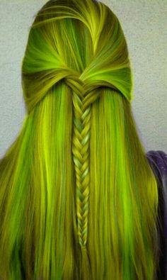 Yellow/green hair