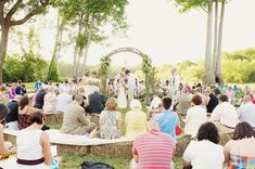 Southern wedding - hay bale seating