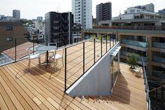 Holz Dachterrasse-Geländer ryo-matsui architects-balcony house-tokio