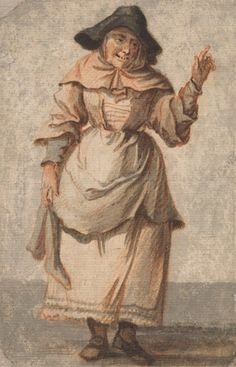 Paul Sandby RA, British, An Old Market Woman Grinning and Gesturing with her Left Hand, undated, Watercolor with pen and… 18th Century Clothing, 18th Century Fashion, 19th Century, Google Art Project, Working Class, Art Google, Vintage Images, Caricature, Photo Art