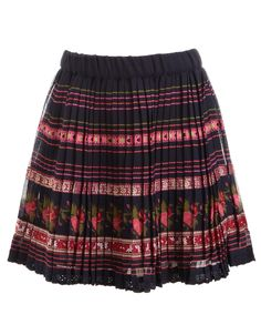 Monsoon  Tapestry Embroidered Skirt