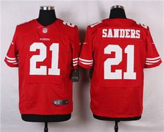 Nike San Francisco 49ers  21 Deion Sanders Red Elite Jersey b12e2aba2