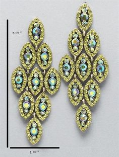 Chandelier Olive Green Earrings at PromDressShop.com