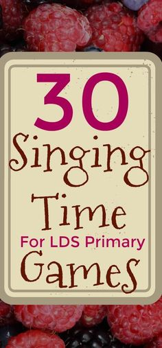 30 Singing Time Games for LDS Primary - The Painters Wife Lds Songs, Lds Primary Songs, Lds Music, Primary Program, Primary Singing Time, Primary Activities, Primary Lessons, Primary Music, Time Activities
