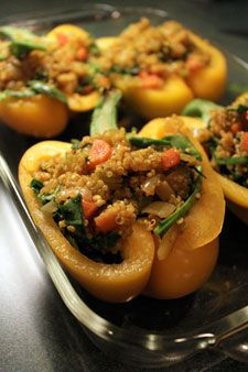 curried quinoa stuffed peppers