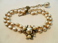 Vintage MIRIAM HASKELL Pendant Choker Necklace by KathiJanes
