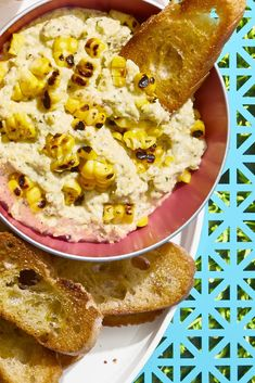vegetarian super bowl recipes - grilled corn and ricotta dip Easy Appetizer Recipes, Dip Recipes, Grilling Recipes, Snack Recipes, Easy Recipes, Party Appetizers, Appetizer Dips, Sandwich Recipes, Party Snacks