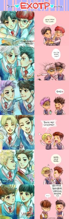EXOTP Fanart <3 I don't ship everything on here, but it's still amazing!
