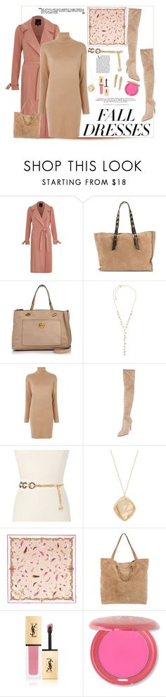 """""""Polyvore Contest: Fall Fashion Dresses ( Sweater Dress)"""" by tailormadelady ❤ liked on Polyvore featuring River Island, L'Autre Chose, Tory Burch, Michael Kors, MICHAEL Michael Kors, Kendall + Kylie, H&M, Aspinal of London, Lanvin and Yves Saint Laurent"""