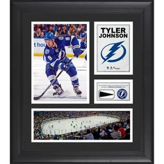 "Tyler Johnson Tampa Bay Lightning Fanatics Authentic Framed 15"" x 17"" Collage with Piece of Game-Used Puck - $79.99"