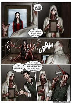 "If there are errors in the translation into English I'll everything edit later Some of my other comics in ""English"" here moraxs. Evil Within-Ruvik forms monsters The Evil Within Ruvik, The Evil Within Game, Leslie Withers, Monster List, Comics In English, Shadow Of The Colossus, Adult Humor, Resident Evil, Creepypasta"
