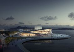 ok, that's a beautiful rendering | Snøhetta wins competition to design Busan Opera House
