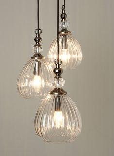 Mirielle 3 light Cluster - Ceiling Lights - Home, Lighting & Furniture - BHS Luxury Chandelier, Luxury Lighting, Home Lighting, Pendant Lighting, Lighting Stores, Bhs Lighting, Pendant Chandelier, Light Pendant, Vintage Lighting
