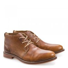 Monarch Men's Mid Brown / Brass Leather Chukka Boots