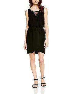 6, Black - Black, Teddy Smith Women's Ressy Sleeveless Dress NEW