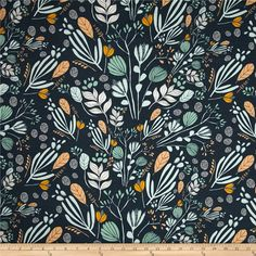 Designed by Leah Duncan for Art Gallery Fabrics, this finely woven voile fabric is perfect for creating stylish blouses, shirts, or dresses and skirts with a lining. Colors include golden yellow, mint, green, pale aqua and navy.