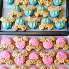 Minnie Mouse Rice Krispy treats, gender reveal