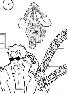 Spiderman Målarbilder för barn. Teckningar online till skriv ut. Nº 31
