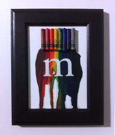 Melted crayon art. Really cool!