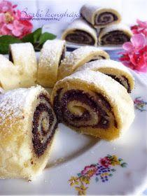 Barbi konyhája: Mákos linzertekercs Hungarian Cake, Hungarian Recipes, Strudel, Sushi, Sweet Treats, Mac, Food And Drink, Barbie, Ethnic Recipes