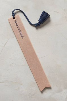 Anthropologie Idiom Bookmark