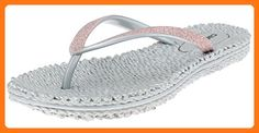 ee862384cb1804 Capelli New York Ladies Fashion Flip Flops With Fine Glitter Trim Silver 10  ( Partner Link)