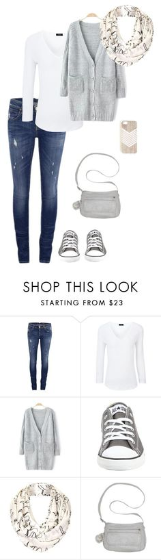 """casual grey"" by miss-hummingbird on Polyvore featuring Mode, ONLY, Joseph, Converse, Topshop, Kipling, casual, converse, comfy und grey"