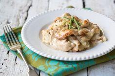 Recette facile : aiguillettes de poulet à la crème de poireau