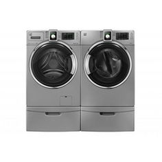 Kenmore®/MD 4.6 cu. Ft. Front-Load Washer & 7.4 cu. Ft. Steam Electric Dryer - Imperial Silver
