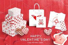 Valentine Pixel Set by Nadezda Gudeleva on @creativemarket