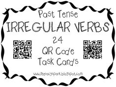 This product consists of 24 task cards that review the past tense of irregular verbs. Each task card has a QR code that can be scanned in order to reveal the answer. Recording sheet and answer document are included.
