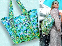 All-Weather Tote in Cotton Laminate | Sew4Home
