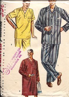 VTG 1950's Men's Pajamas and Nightshirt by DawnsDesignBoutique, $8.00