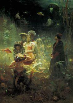 IIya Repin. 1876.  Incredible depth to this painting.