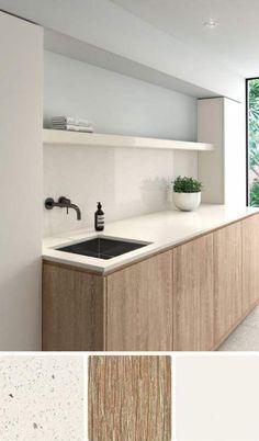 White Scheme 5 – Coastal palette - Laminex * like the colour scheme * Laundry Room Design, Laundry In Bathroom, Design Kitchen, Modern Laundry Rooms, Küchen Design, House Design, Design Trends, Kitchen Chandelier, Coastal Chandelier