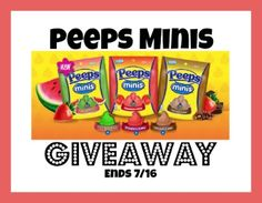 SavingSaidSimply.com - Summer FUN with New Peeps Minis + Giveaway