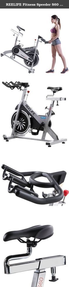 """REELIFE Fitness Speeder S60 Commecial Indoor Cycling Bike. main advantages: 1、44 lbs(20KG) flywheel 2、Adjustable Multi handrails design 3、4 directions adjustable comfortable seat 4、drive system:Chain drive mechanism 5、resistance system:Fully resistance system 6、pedals:Adjustable comfortable pedals 7、carton dimensions:43""""x11""""x36.6""""/1090mmx290mmx930mm 8、assembled dimensions:57""""x13""""x38""""/1450mm*330mm*970mm 9、gross weight:128 lbs(58KG) 10:net weight:11 :330 lbs (150kg) 12:moving:moving with 2..."""