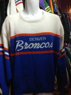 Vintage 90s DENVER BRONCOS Cliff Engle NFL Sweater XL