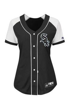 Chicago White Sox Womens Majestic Majestic Fashion Baseball Jersey - Black