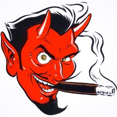 Devil's Face with Cigar