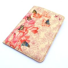 Pretty leather passport case, $55 Beautiful Skin by Tovicorrie
