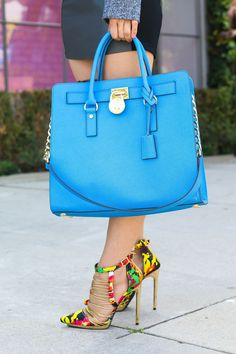 How to make your accessories shine. I'm kind of in love with this purse and those shoes. They instantly dress up an outfit with more muted colors.